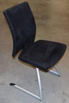 Håg H04 Comm 4470 i sort mikrofiber, pen besøksstol/ møteromsstol, pent brukt