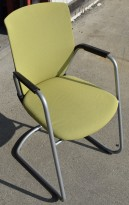 Besøksstol / konferansestol: Håg Futu Communication med grønt stoff, pent brukt