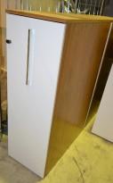 Edsbyn tower uttrekksarkiv for ringpermer i valnøtt med hvit dør, 3permhøyder, personlig skap, pent brukte