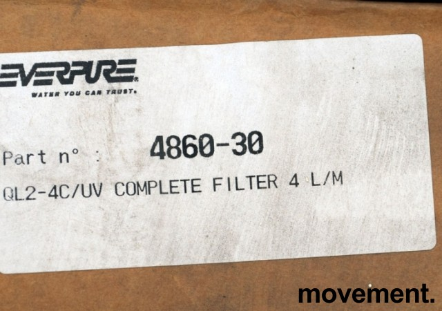 Filter (Vannfilter) for kaffemaskin etc, Everpure QL2-4C/UV, NYE I ESKE bilde 3