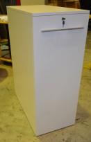 Uttrekksarkiv for ringpermer i hvitt, 3permhøyder, personlig skap, pent brukt