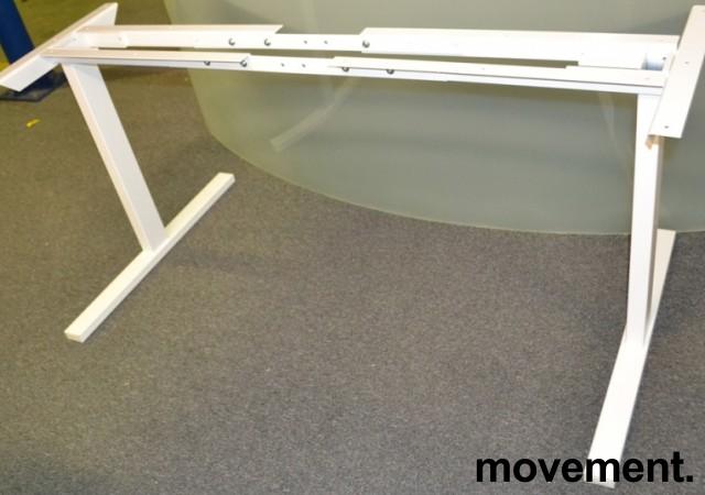 Understell til skrivebord i hvitt, T-ben, NY bilde 3