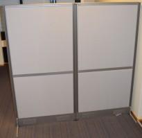 Skillevegg fra EFG i lyst grått, Screen Wall-serien, 159cm høyde, 80cm bredder, pent brukte
