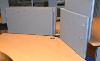 EFG Divide Bordskillevegg i grått 90cm bredde, 49cm høyde, med fester, pent brukt