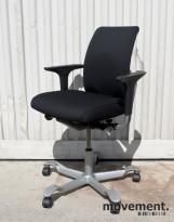 Håg H05 5300 kontorstol med armlener, nytrukket i sort