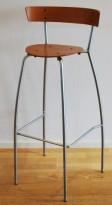 Fritzsons barstol / barkrakk i tre / metall, sittehøyde 75 cm, pent brukt