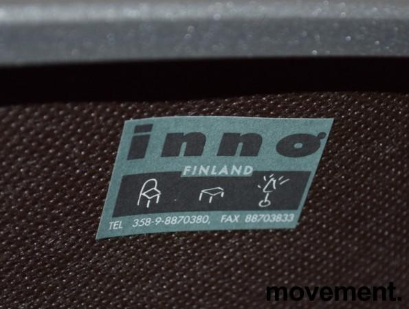 Konferansestol / møteromsstol fra Inno, modell Stack i grått / grønnmønstret stoff / bjerk, pent brukt bilde 5