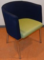 Lammhults konferansestol / loungestol i krom / grønt / blått, brukte