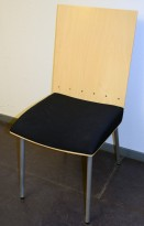 Klaessons konferansestol i grått/bjerk/mørkeblått, modell ANNO, pent brukt