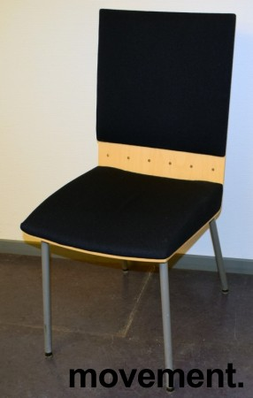 Klaessons konferansestol i grått/bjerk/mørkeblått sete/ryggpute, modell ANNO, pent brukt bilde 1