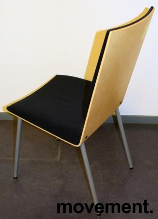 Klaessons konferansestol i grått/bjerk/mørkeblått sete/ryggpute, modell ANNO, pent brukt bilde 2