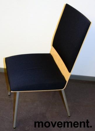 Klaessons konferansestol i grått/bjerk/mørkeblått sete/ryggpute, modell ANNO, pent brukt bilde 3