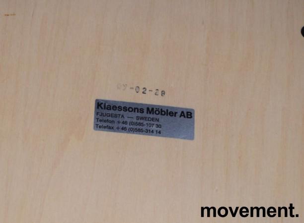Klaessons konferansestol i grått/bjerk/mørkeblått sete/ryggpute, modell ANNO, pent brukt bilde 4