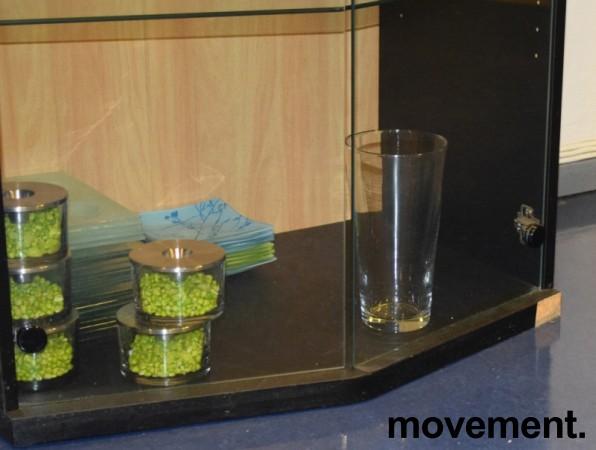 Høye skap med glassdører / vitrineskap, 218,5cm høyde, pent brukt bilde 4