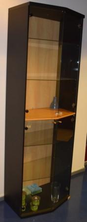 Høye skap med glassdører / vitrineskap, 218,5cm høyde, pent brukt bilde 2
