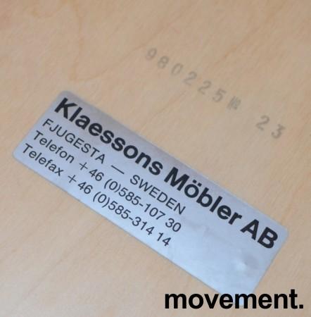 Klaessons konferansestol i grått/bjerklys grønt sete/ryggpute med armlene, modell ANNO, pent brukt bilde 4