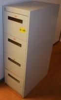 Eldre Nobø Arkivskap for hengemapper med 4 skuffer, 132cm høyde, brukt