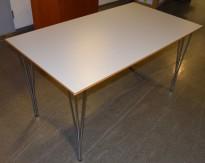 Kantinebord / rektangulært skrivebord fra Phoenix, Denmark, 140x80cm, pent brukt