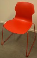 Stablestol / besøksstol i rødt, Stereo by Casamania/Frezza, Design: Nichetto, pent brukt