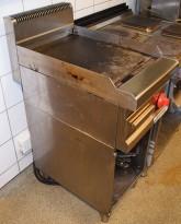 Bertos stekeplate / flatgrill for storkjøkken, 40cm bredde, 400VOLT, pent brukt