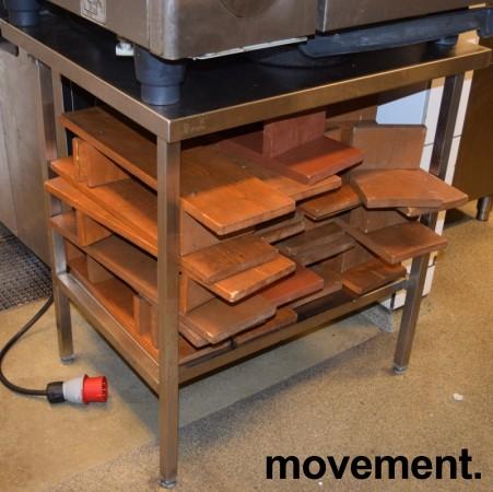 Nicro rustfritt stativ arbeidsbord avlastningsbord, 80cm bredde, 70cm dybde, pent brukt