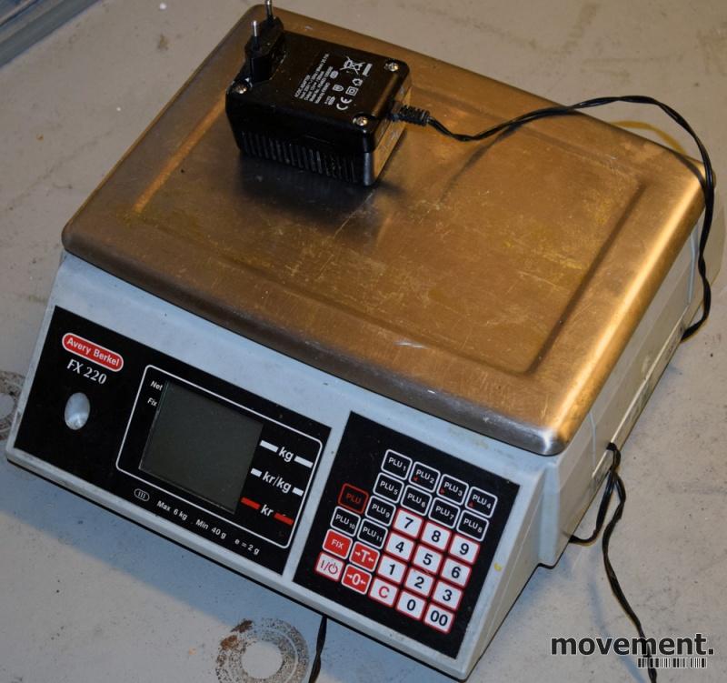 1ab3922bd Elektronisk vekt / butikkvekt AveryBerkel FX220, 6kg / 2gr, brukt