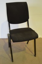 Håg Conventio konferansestoler i sort stoff, pent brukt