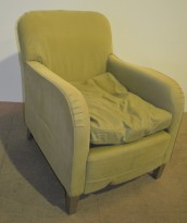 Loungestol i grønt stoff fra De Padova, pent brukt