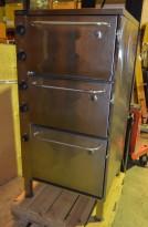 Stekeovn / komfyr med tre ovnskammer for storkjøkken, 440V/3fas, 9,2Kw, for marin bruk, FABRIKKNY