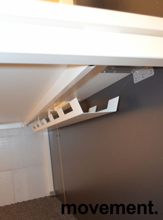 Moderne resepsjon i hvitt/mørk grått, 160cm bredde, komplett med pult, NY/UBRUKT bilde 7