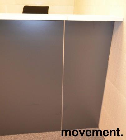 Moderne resepsjon i hvitt/mørk grått, 160cm bredde, komplett med pult, NY/UBRUKT bilde 8