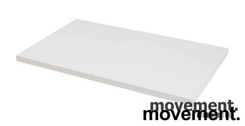 Hvit bordplate til skrivebord 100x80cm, NY/UBRUKT