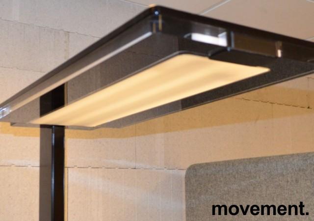 LUXO LEVIT-F stålampe i svart, pent brukt. bilde 5