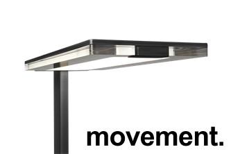 LUXO LEVIT-F stålampe i svart, pent brukt. bilde 2