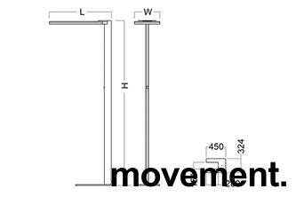 LUXO LEVIT-F stålampe i svart, pent brukt. bilde 6