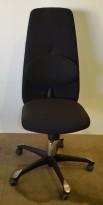 Håg H09 9120 kontorstol i sort stoff (TEX900), med ryggstøtte, pent brukt