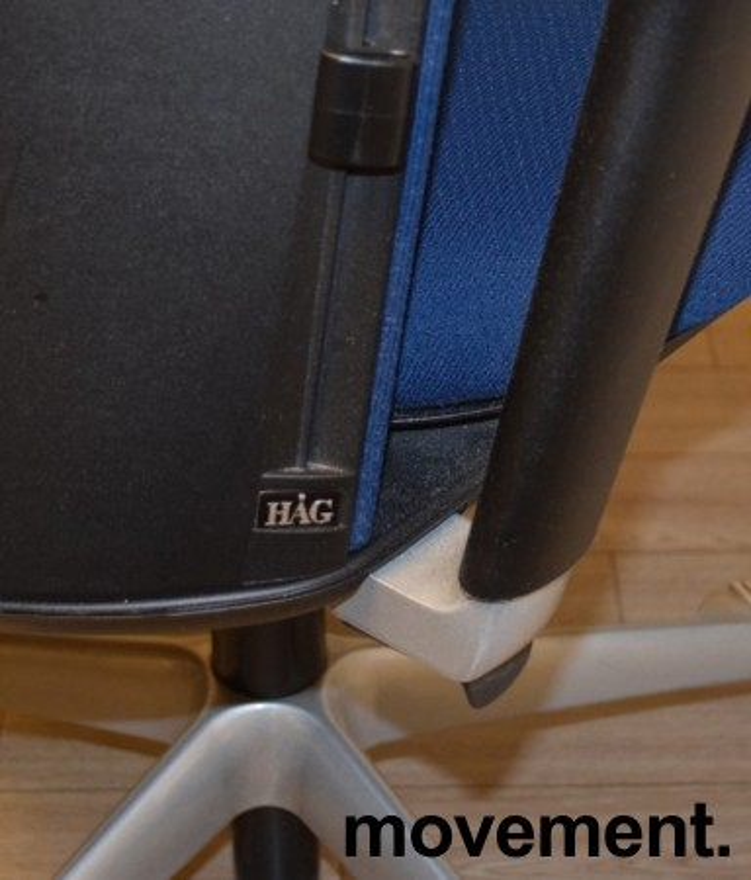 Håg Futu kontorstol i blått stoff, pent brukt bilde 3