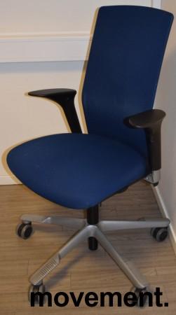 Håg Futu kontorstol i blått stoff, pent brukt bilde 1