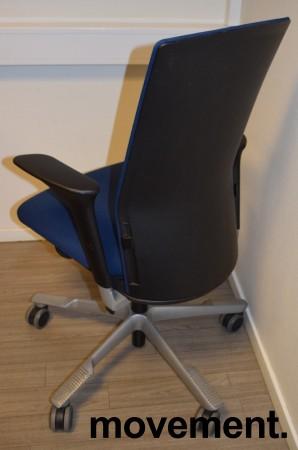 Håg Futu kontorstol i blått stoff, pent brukt bilde 2