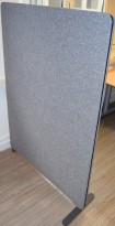 Lintex Edge skillevegger i gråmelert tekstil, 150cm høyde, 112cm bredde, frittstående, pent brukte