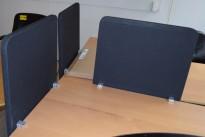 Ikea Galant bordskillevegg 60cm bredde, sortgrå/sort, 64cm høyde, pent brukt