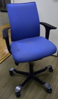 Kontorstol: Håg H05 i blått modell 5400, pent brukt