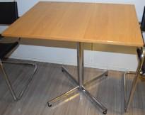 Lite, rektangulært loungebord i eikefiner, 80x60cm, pent brukt