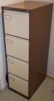 Arkivskap for hengemapper fra Roneo Vickers, 4 skuffer, 41,3cm bredde, 132cm høyde, brukt