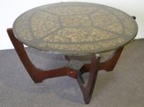 Retro loungebord / sofabord, Ø=90cm, høyde 52cm, retro / vintage