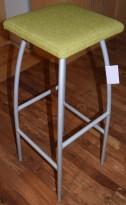 Barkrakk fra Helland, Jubilee, Grønn setepute, grått understell, 81cm sittehøyde, brukt