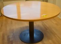 Stort, rundt møtebord i bjerk / grått, Ø=120cm H=72cm, pent brukt