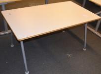 Horreds kompakt skrivebord/møtebord i lysegrått/grått, 140x80cm, pent brukt