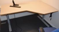 Elektrisk hevsenk hjørneløsning fra Horreds i Free-serien, 180x120cm, Sving på høyre side, pent brukt