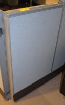 Kinnarps Zonit skillevegg i grått, 110cm høyde, 60cm bredde, pent brukt